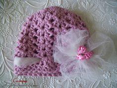 Baby Hat Newborn Hat Baby Beanie Baby Girl Hat Crochet by Coccoque, $20.00