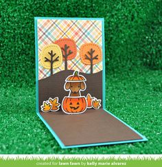 stitched tree borders   Lawn Fawn