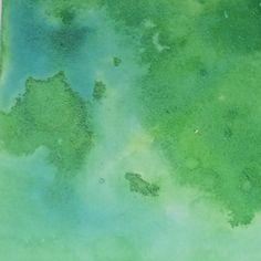 GREEN India Ink Magic Abstract Art