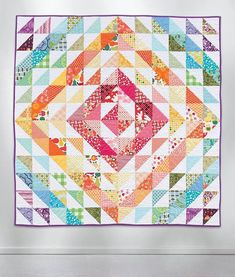 Did you know we have a mantra for our popular Sweet & Simple pattern series? It's this: Quick. Easy. Fun. Done. If that's your quilting mantra too, you'll love our latest additions! Includes this  Rainbow Stash Buster quilt by @quiltstorymeg . See the new patterns today on our blog - follow our profile link - available exclusively at your #localquiltshop .
