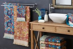 Take a trip to exotic Arabia and update your bathroom decor with pattern and colour #bedbathntable