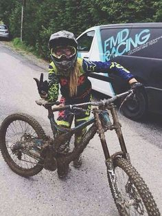 Bike, girl, mud and rock n roll