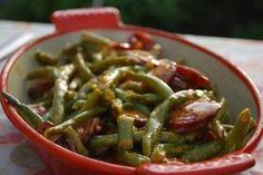 Green beans chorizo  Tapas for bean glut