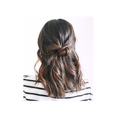 """The """"It"""" Girl Hairstyle That Takes Less Than 10 Minutes ❤ liked on Polyvore featuring hair"""