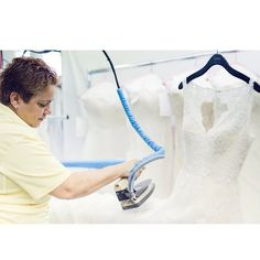Meet Anna our wedding gown finisher. Anna makes your dress look flawless and wrinkle-free for the big day