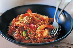 coop's place in new orleans had the best jambalaya.. cajun/creole food is just AMAZING! http://www.taste.com.au/recipes/5690/jambalaya