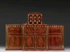 A GILT BRONZE MOUNTED, MAHOGANY, SATINWOOD, ebonised AND GILT-BRASS INLAID SECRETARY flaps, ENGLISH OR NORTH EUROPEAN, FIRST HALF OF THE 19th CENTURY REQUEST MORE INFORMATION Theme: Furniture ADD THIS TOPIC TO MY ALERTS On the same theme furniture Maybe you will like : IN THIS SALE IN THE COMING SALES IN THE PAST SALES ENLARGE LOT 25 CHEST OF REGENCY PERIOD - In European polish gold decoration on a black background, on [...] Estimate : 5 000 - € 8,000 VIE