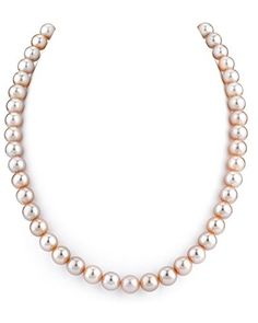 8-9mm Pink Freshwater Cultured Pearl Necklace, 18 Inch Princess Length, Women's, Size: 89FWP-18-Parent
