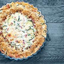 Ma recette du jour : Tarte à la courgette et aux lardons sur Recettes.net