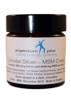 Crème Argent Colloïdal-MSM – Contenance : 60 ml | Your #1 Source for Beauty Products