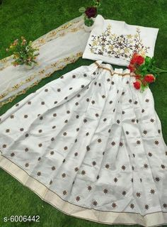 Chitrarekha Ensemble Women Lehenga  Topwear Fabric: Banglori Satin Bottomwear Fabric:Banglori Satin Dupatta Fabric: Net Set type: Lehenga, Choli And Dupatta Top Print or Pattern Type: Embroidered Sizes:  Semi Stitched (Lehenga Waist Size: 46 in, Lehenga Length Size: 46 in,  Lehengha:2.50 mtr, Duppatta Length Size: 2.5 m ,Lehengha Inner::2 mtr Blouse(Choli) :1 mtr) New Lehenga Choli, Brocade Lehenga, Ethnic Gown, Co Ord Sets, Flip Flop Slippers, Islamic Clothing, Baby Pillows, Quilt Bedding, Winter Wear