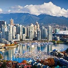 """Vancouver, Canada --  """"Ringed by snow-capped, forested mountains dropping down to miles of sandy beaches, Vancouver is a playground for residents and visitors. Against the stunning scenic backdrop, a medley of sophisticated restaurants, leafy parks and lively, earthy brew pubs await. Cosmopolitan Vancouver is """"young""""—just over 100 years old—and its outdoorsy energy complements its easygoing West Coast style."""""""