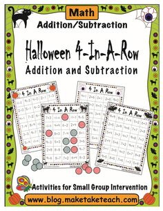Classroom Freebies: Halloween Themed Activity for Math Centers