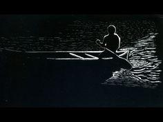 Canoe Man - Scratchboard 4x8