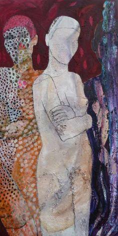 """Saatchi Art Artist Jacqueline van der Plaat; Painting, """"Snowwhite"""" #art"""