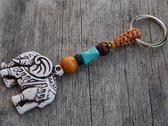 Elephant Keychain, Gemstone Bead,Gemstone Stone Keyring , Macrame Friendship, Hemp Keychain, Handmade Keychain,Good Luck by SkywaterStudio on Etsy https://www.etsy.com/listing/292725147/elephant-keychain-gemstone-beadgemstone