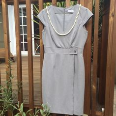 "Calvin Klein Dress. Calvin Klein Dress with cap sleeves.  38"" long from shoulder to hem.  18"" long from under arm to under arm.  Very good condition. Calvin Klein Dresses"