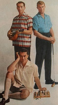 1960s Early 60s MENSWEAR Leisure Sportswear Casual Fashion Vintage Advertisement by Christian Montone, via Flickr