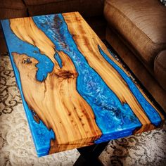Blue River Sinker Cypress Coffee Table – tables – New Epoxy