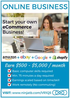 Learn a new skill in 2016 - #eCommerce partner with our #INFINii team to get the best start to your new #onlinebusiness so that you can #workfromhome and #workonline  by selling on #Amazon and #eBay