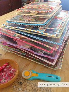 crazy mom quilts: Work In Progress Bag pattern