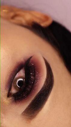 Smoke Eye Makeup, Black Smokey Eye Makeup, Makeup Eye Looks, Eye Makeup Art, Dark Makeup, Eyeshadow Makeup, Eyeshadows, Maroon Makeup, Yellow Makeup