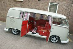 VW Bus camper red