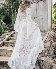 Boho Chic Style Wedding Gown