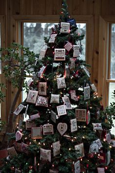Christmas cross stitch tree
