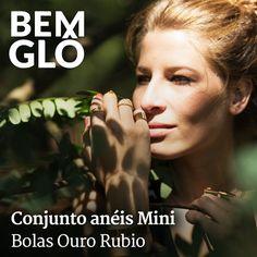 Conjunto lindo de anéis para combinar do jeito que você quiser! ;) #bemglo #aneis #semijoias