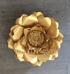 Gold paper flower