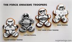 Sugar Swings! Serve Some: Day 10 Star Wars Trooper Gingerbread Men Cookies #12daysofStarWars