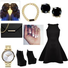black by macygordon on Polyvore featuring polyvore fashion style Ted Baker Jeffrey Campbell MICHAEL Michael Kors MARC BY MARC JACOBS Nixon B. Brilliant