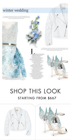 """""""True Romance: Winter Wedding"""" by antemore-765 ❤ liked on Polyvore featuring Zuhair Murad, Sophia Webster, blueandwhite, winterwedding, winterstyle and colorcombination"""
