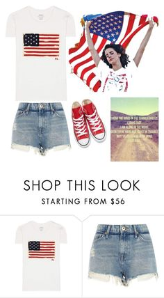 """""""Red White and Blue"""" by vale14m on Polyvore featuring Polo Ralph Lauren, River Island and Converse"""