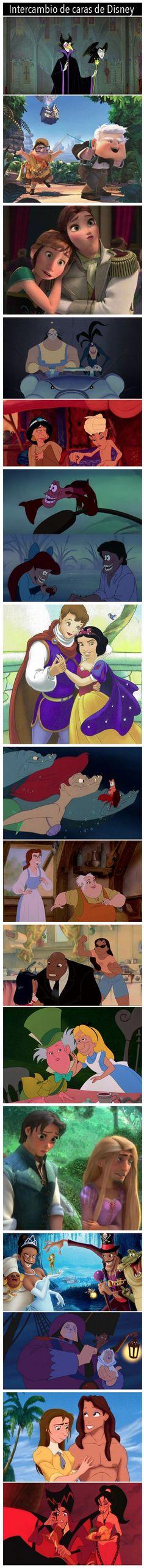Intercambio de caras de Disney. #humor #risa #graciosas #chistosas #divertidas