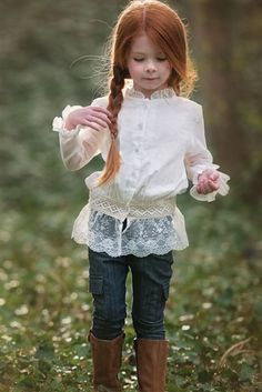 Persnickety Clothing Autumn Splendor Ivy Button Up in Cream Fall 2014 Fall 2014 Beautiful Red Hair, Beautiful Redhead, Fashion Kids, Fashion Shoes, Fashion Dresses, Beautiful Children, Beautiful People, Persnickety Clothing, Little Princess