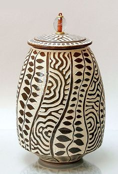 Sgrafitto 13: Ron Mello: Ceramic Vessel - Artful Home
