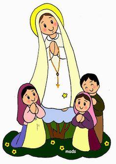 Catholic Crafts, Religion Catolica, Lady Of Fatima, Mama Mary, Mary And Jesus, Teen Kids, Holy Mary, Religious Education, Jesus Pictures