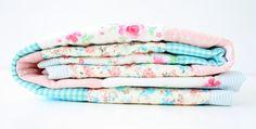 Patchwork Quilt Baby girl Blanket by babytogo on Etsy, $90.00