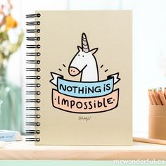 Carnet nothing is impossible | Ma commode dorée