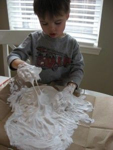 snow for penguin- glue and shaving cream then dry...make the penguin with the shadow picture (see other pins)