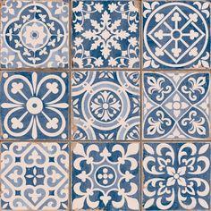 Found it at Wayfair Supply - EliteTile Faventie Azul x Glazed Ceramic Field Tile in Blue Bathroom Flooring, Kitchen Flooring, Kitchen Backsplash, Ceramic Flooring, Blue Backsplash, Kitchen Dining, Vinyl Flooring, Moroccan Tile Backsplash, Redo Bathroom
