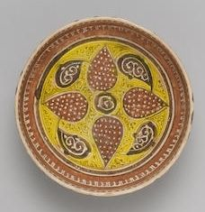 A Samanid slip-painted pottery Bowl East Persia or Transoxiana, 9th-10th Century.
