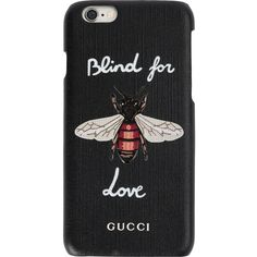 Gucci Blind for Love iPhone 6 case ($270) ❤ liked on Polyvore featuring accessories, tech accessories, phone, black and gucci