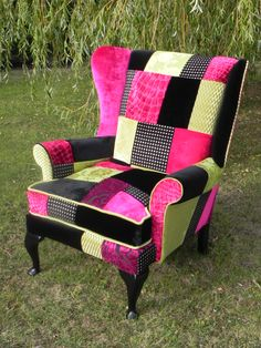 Queen Ann revival chair Reupholstered by Katie Moore