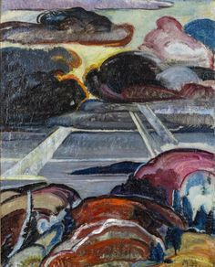 """Landscape,"" Marsden Hartley"