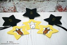 """Lawn Fawn """"For you, deer"""" stamps and dies and """"Puffy star stackables"""" dies."""