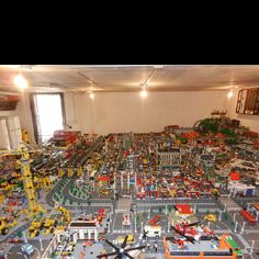 Our LEGO room was pretty close to being this intense. It was cataloged and organized and everything. MY DAD DID IT.