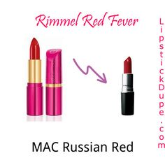 Rimmel Red Fever dupe for MAC Russian Red